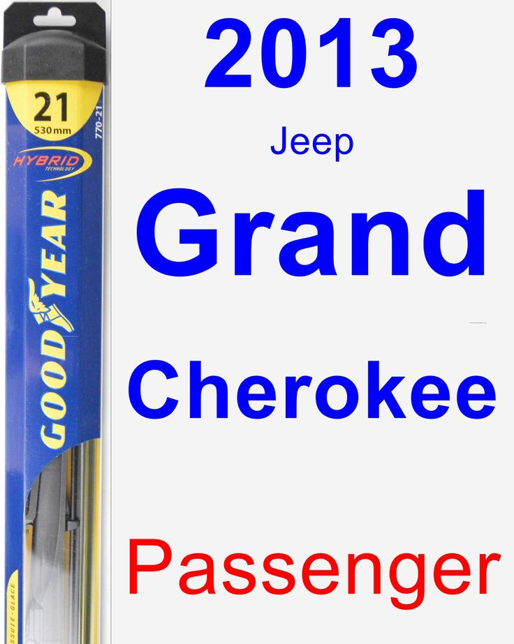 Passenger Wiper Blade for 2013 Jeep Grand Cherokee - Hybrid
