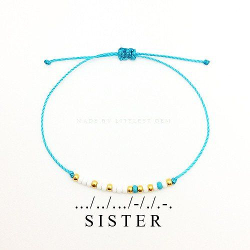 Sister Morse Code Bracelet