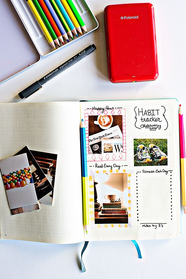 Polaroid Zip Instant Mobile Printer - my favorite printer for bullet journaling! Plus I'm trying out a new habit tracker for my bullet journal.