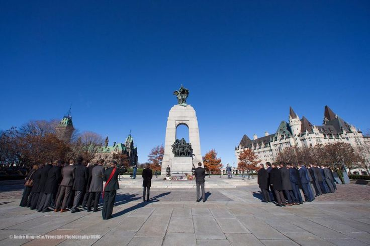 Nov 9, 2014 ~ The #Sens and Toronto Maple Leafs gathered together at the National War Memorial this morning in memory of our fallen soldiers. https://www.facebook.com/media/set/?set=a.804668689576728.1073741894.565156533527946&type=1