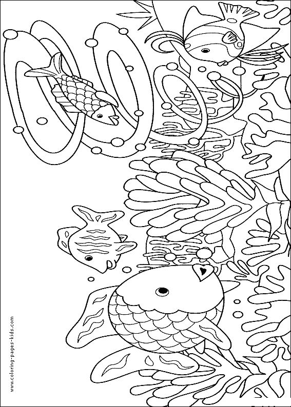 Many Fishes Color Page Animal Coloring Pages For Kids Thousands Of Free Printable