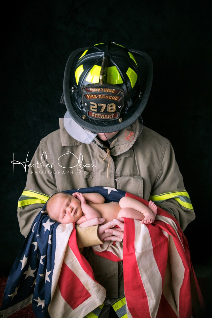 Firefighter Newborn - Heather Olson Photographers heatherolsonphotographers.com