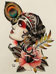 Resultado de imagem para gypsy traditional tattoo