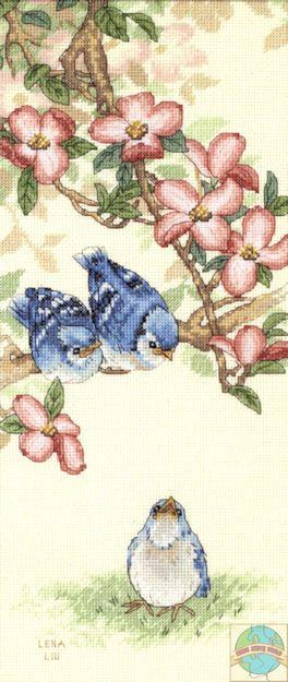 Sunset / Dimensions - Lena Liu - Baby Blue Jays - Cross Stitch World