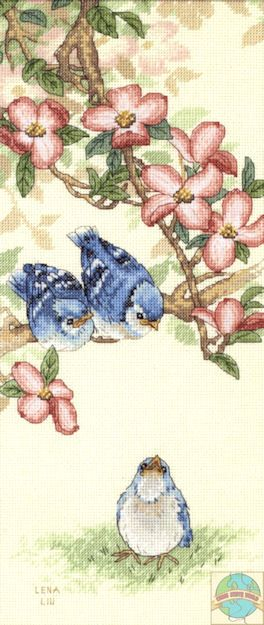 Sunset / Dimensions - Lena Liu - Baby Blue Jays - Cross Stitch World