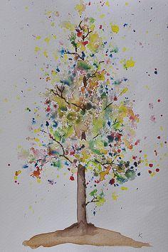 "Beautiful autumn tree art activity using spray bottles from Be a Fun Mum ("",)"