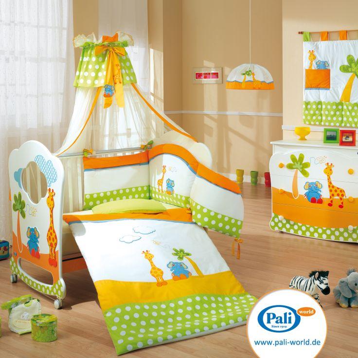 Cute Das Kinderbett Gigi u Lele in voller Pracht hier komplett ausgestattet mit Bettw sche