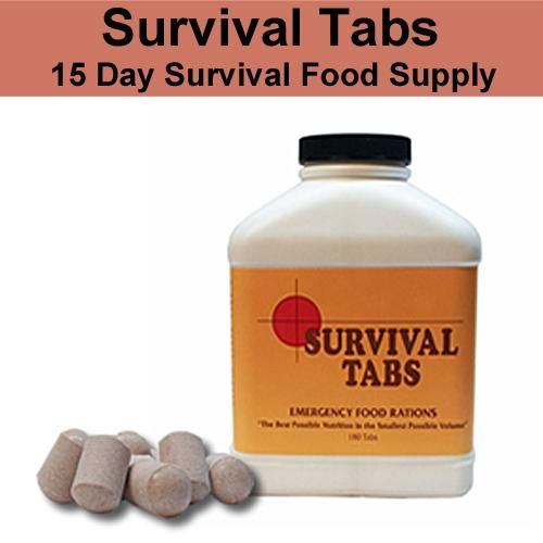 Emergency Survival Food Tabs - Do You Want To Know What the Most Effective Survival Equipment Is? Click Here to Find Out http://www.selfdefensegearco.com/survival-gear.php