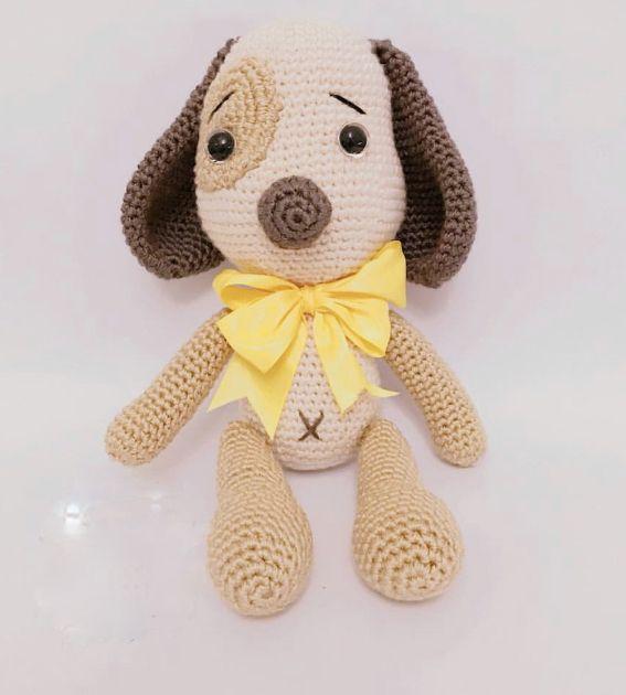 Amigurumi Yamalı Köpek Bruno Türkçe Yapılışı- Amigurumi Dog Bruno Free  Pattern   630x567