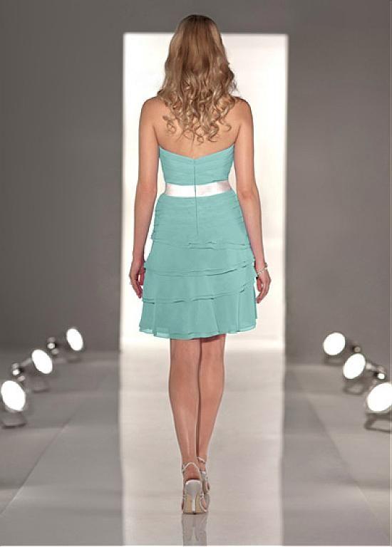 Beautiful Chiffon & Stretch Satin Strapless Neckline Knee-length Sheath Homecoming Dress