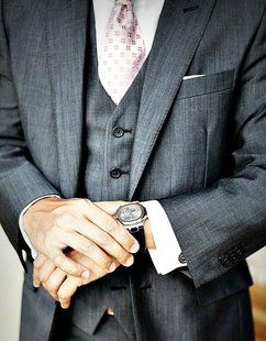 Gray Three Piece SuitGrooms Suits, Grey Suits, 3 Piece Suits, Soft Pink, Men Style, Interview Attire, Three Piece Suits, Men Fashion, Men Wear