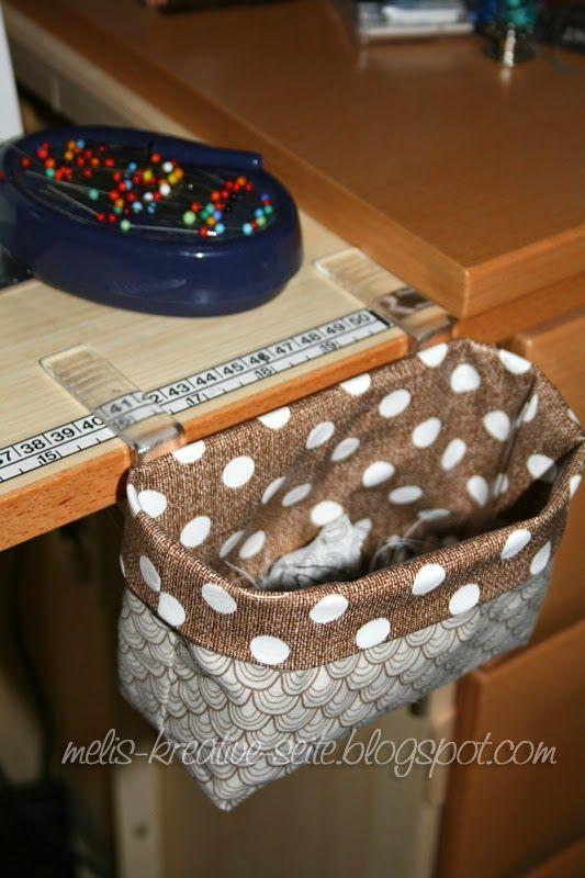 Melis kreative Seite: Kleiner Abfall-Fänger aus Wachstuch