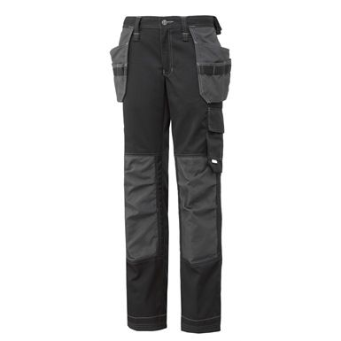 These Helly Hansen Womens West Ham Construction Pants form part of the Helly Hansen Women's Workwear range and are designed with the professional woman in mind. Rugged and hard-wearing, they feature two reinforced hanging front pockets and polyester loops for additional tools, plus a multitude of additional loops and pockets. Not forgetting of course the essential kneepad pockets.