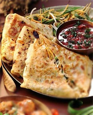 Chinese stir-Fried Vegetable Parathas. - Tickling Palates For the dough: All purpose flour (maida) – 500-600gm (3 cups approx) Oil – 1 tbsp Salt – ½ tsp or to taste   For the Stuffing: Onions, sliced - 2 Cabbage, shredded – 2 cups Bean sprouts – 1 cup Carrot, coarsely grated – 1 cup Soya sauce – ½ tsp Sugar – ½ tsp Salt – to taste Ajinomoto – 1 pinch (optional) Oil – 2 tbsp.