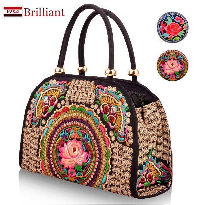 Hechos a mano puro estuche rígido bordado bolsos étnicos mujeres bolso de la flor bolsa cruzada cuerpo por encima del hombro señora bolsos de compras bordado en Top bolsos de la manija de Equipaje y bolsas en AliExpress.com | Alibaba Group
