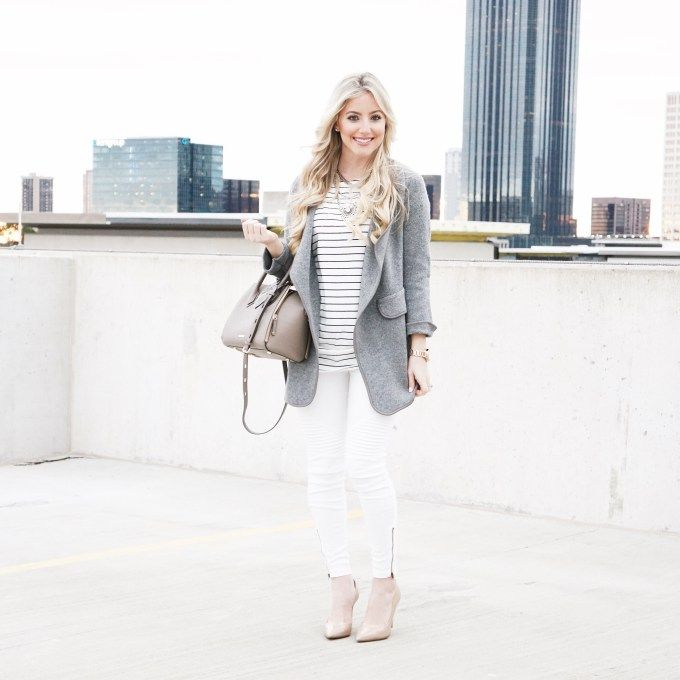 Fashion Beauty And Lifestyle Blogs: Cute Winter Outfit With Shades Of White And Grey // A