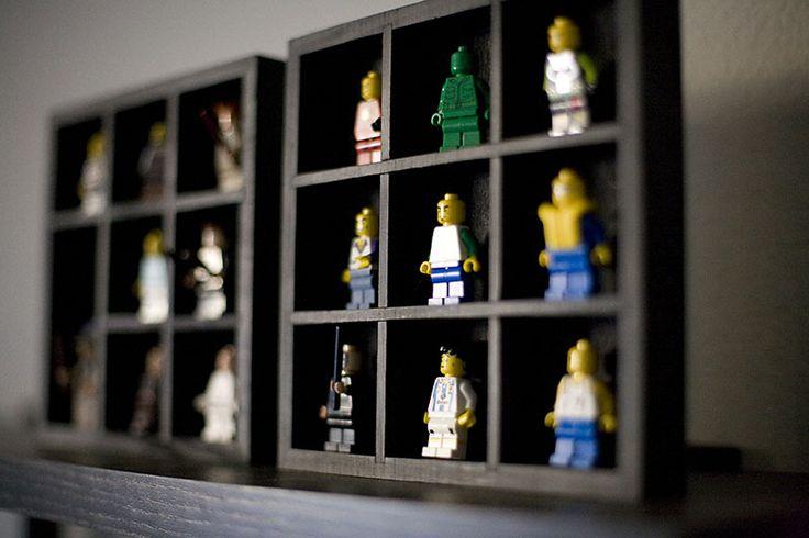Lego shadow boxes from Dollar Tree  www.allfortheboys.com: Lego Men, Crafts Ideas, Lego Dudes, Lego Display, Lego Figures, Jackson Lego, Display Case, Lego Guys, Lego Cuz