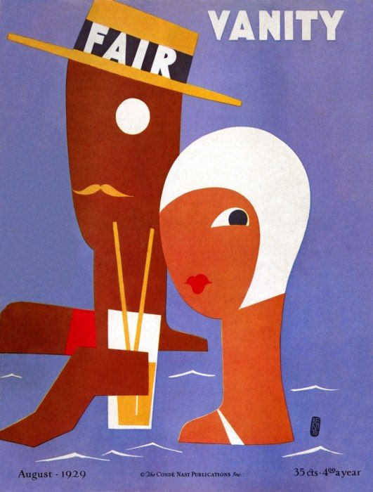 1929 Vanity Fair Cover by Eduardo Benito