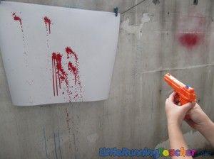 squirt gun painting --- looks like so much fun!