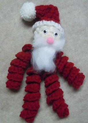Curly Santa ornament crochet pattern