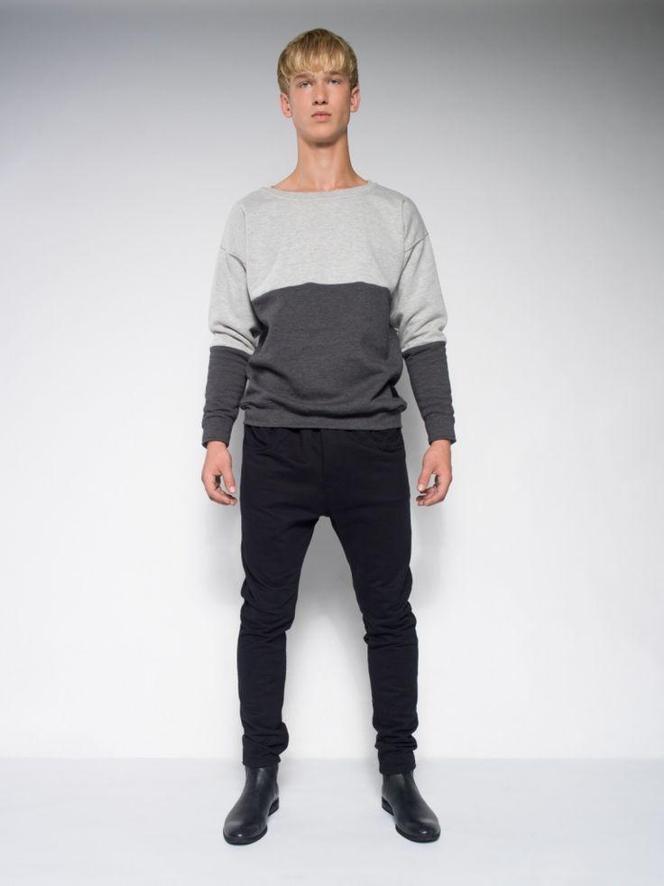 MALE MELANGE SWEATSHIRT winter warm sweatshirt  christmas gift for men