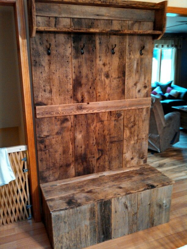 Barn Wood Hall Tree Things I Ve Built Pinterest