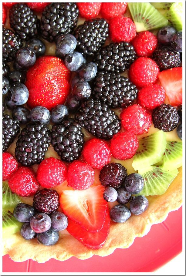 Orange and Vanilla Cream Fresh Fruit Tart ~ Doughmesstic
