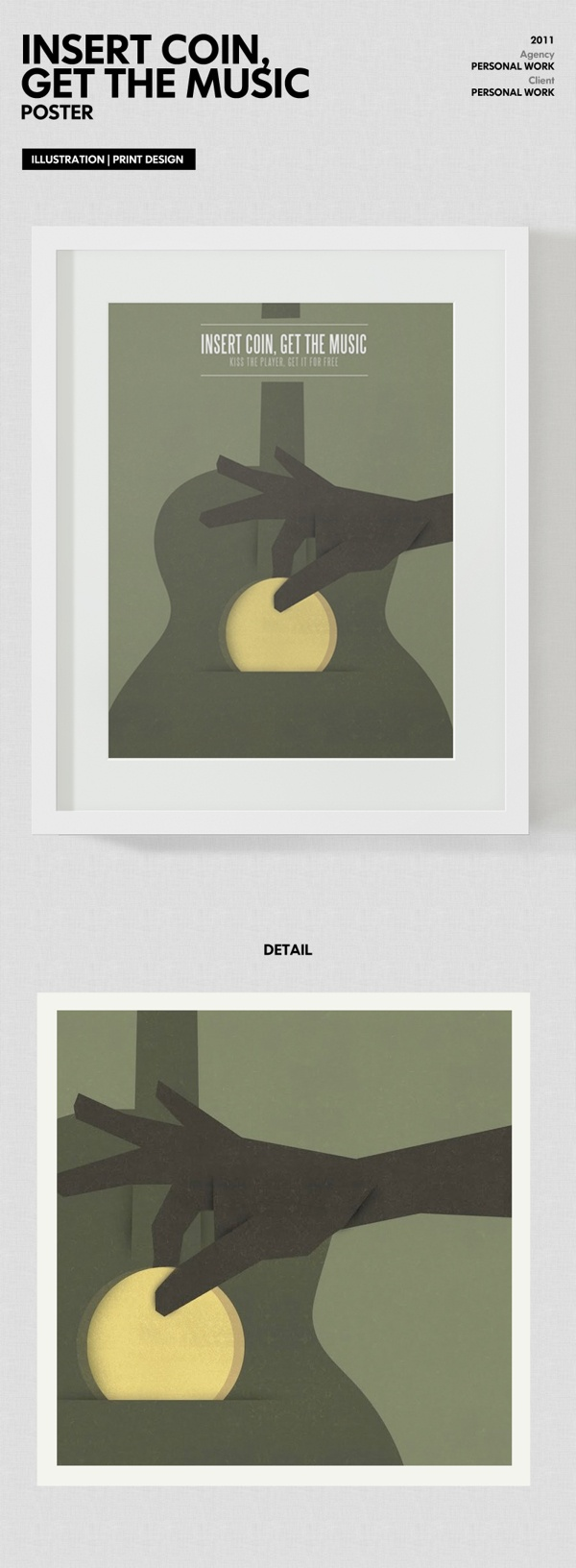 Insert Coin, Get The Music by Luca Armari, via Behance