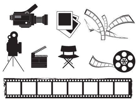 Cinema vectors free vector graphics