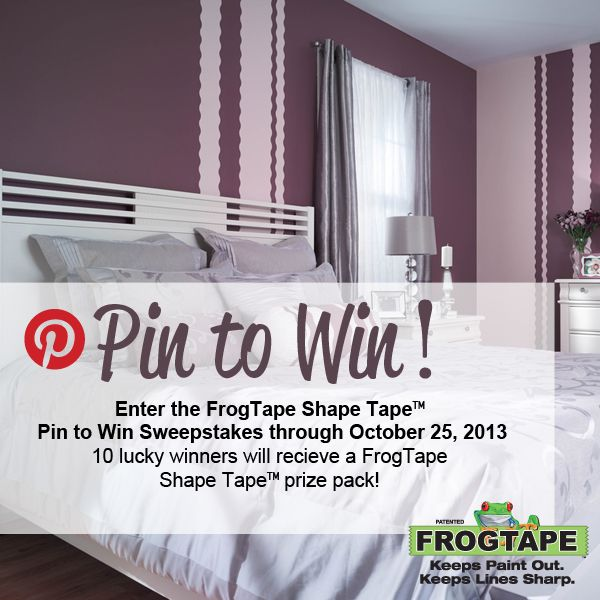 Enter The FrogTape Shape Tape Pin To Win Sweepstakes Through 10/25/13 For