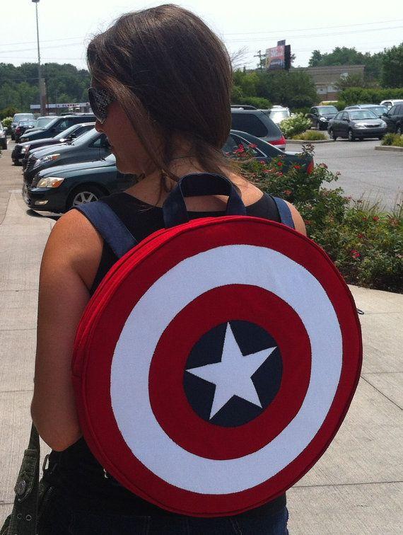 Captain America backpack Want!!