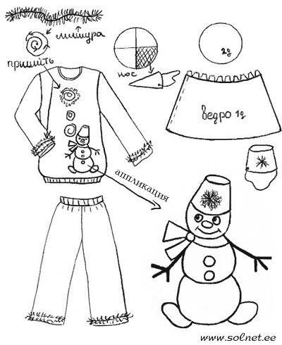 Детские самодельные костюмы снеговик