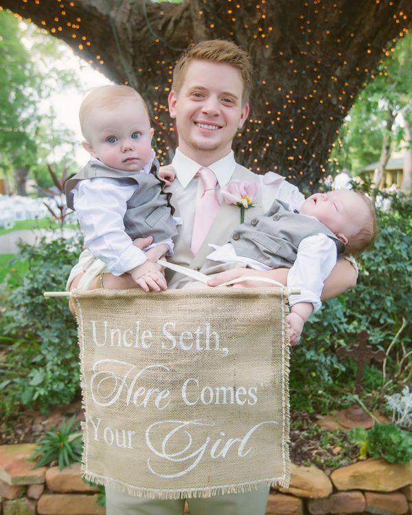 Baby Ring Bearer - Oak Tree Manor DIY Wedding by The Bird & The Bear Photography & Films - via ruffled
