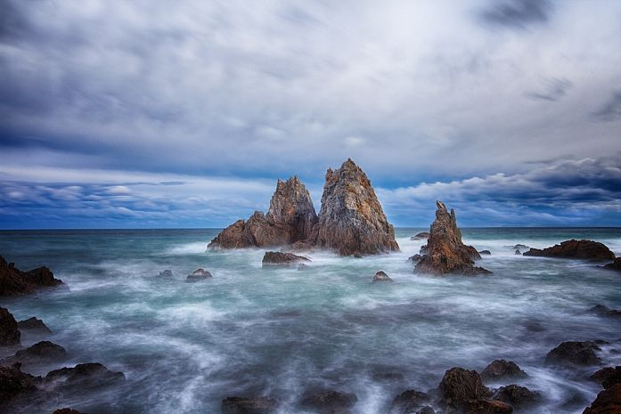 Photographie, Numérique dans Nature, Paysage, Plage, Canon EOS 5D MKII, Canon EF 16-35mm 1:2,8L II USM, Tripod, long exposure, PP in PS 5.1 (partly applied: HDR Efex Pro 2 plugin), Camel Rock, Bermagui, New South Wales (NSW), Australia - Image #398173
