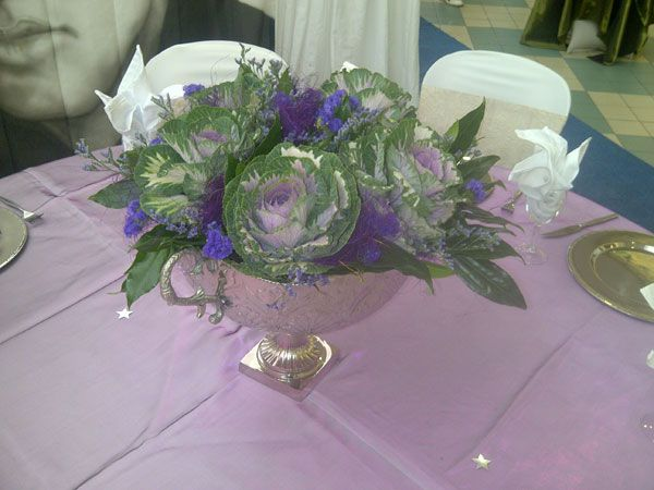 Cabbage roses in a silver vase...www.iceevents.co.za