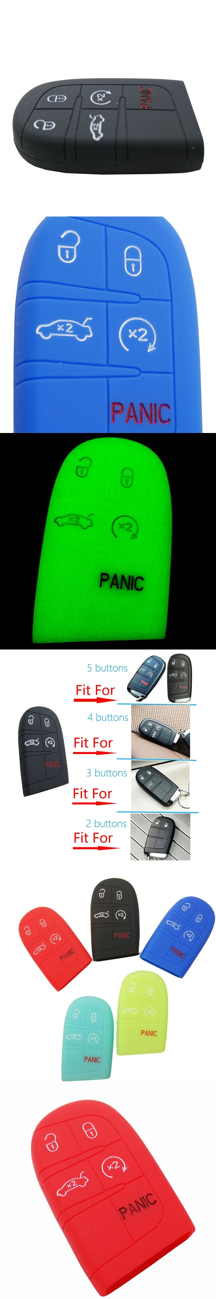 2,3,4,Or 5 Button Silicone Car Key Case For Jeep Grand Cherokee Dodge Challenger Charger Dart Durango Journey For Chrysler 300C
