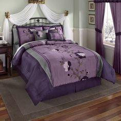 magnolia purple green bedroom - Google Search