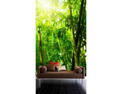 """Mural """"Bamboo Leaves"""". A wall mural from Muralunique.com. https://www.muralunique.com/bamboo-leaves-6-x-9-183m-x-275m.html"""