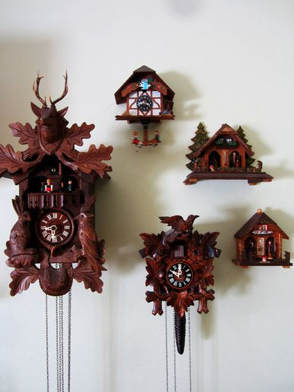 Cuckoo clock collection display   My Houzz: Eskridge Home