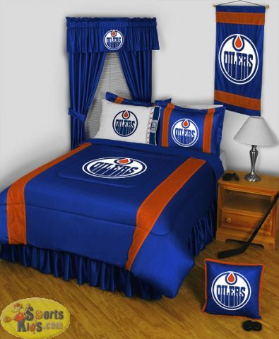 Sports Coverage Edmonton Oilers Sidelines Bedding Series Custom Package