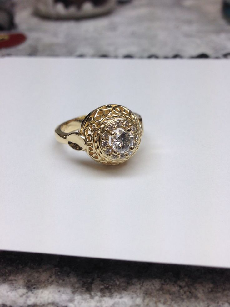 Vintage yellow gold engagement ring.  www.abrahamsjewellery.com