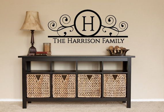 Family Wall Decal  Personalized Wall Decal  by FourPeasinaPodVinyl