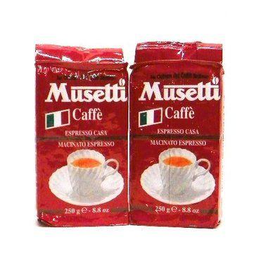 Musetti Caffe Macinato Espresso 8.8 ounce (Pack of 2)