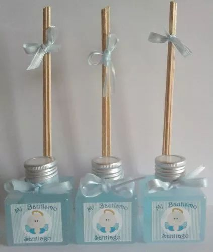 souvenirs mini difusores aromaticos cumpleaños comunión baby