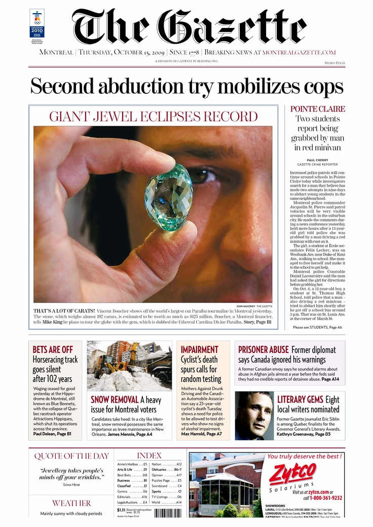 "GIANT JEWEL ECLIPSES RECORD — ""It's a gem of a start for Billionaire"". 
