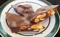 Turron de Chocolate con Almendras Thermomix
