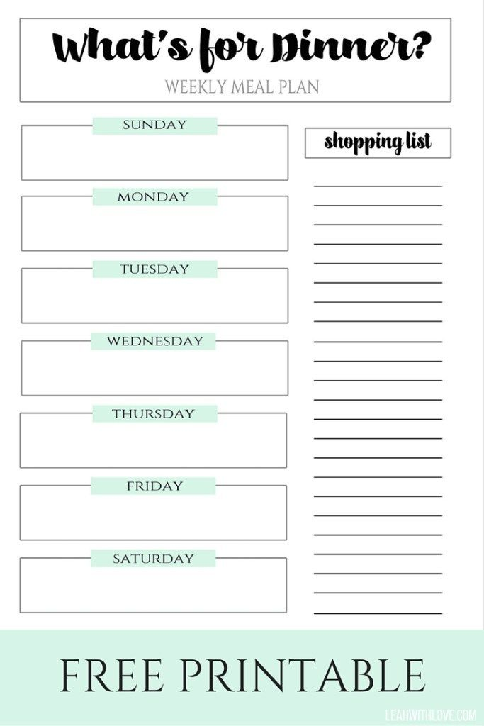 Tips to help make meal planning simple with a free printable to keep you organized!  Meal planning made easy!