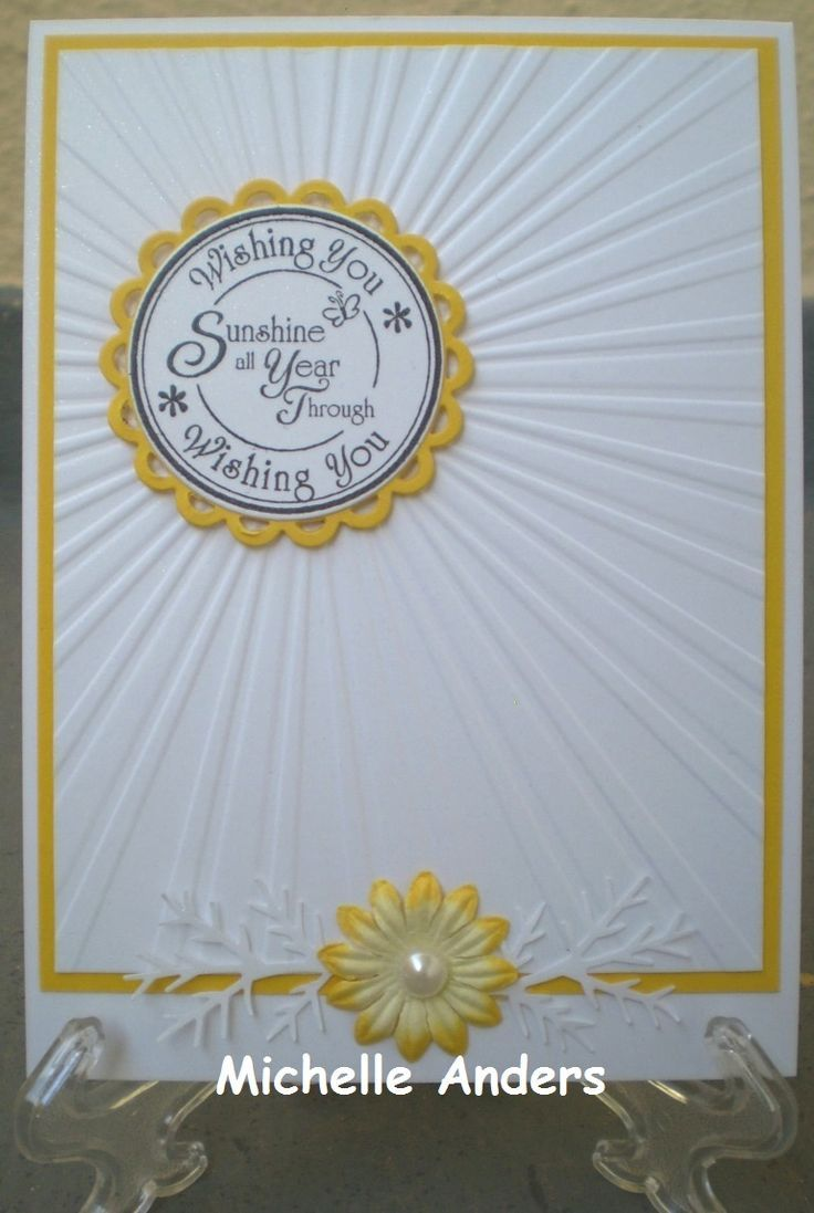 Awesome Card Making Ideas With Embossing Folders Part - 14: Cards On Pinterest Using Sun Rays Embossing Folder - Google Search