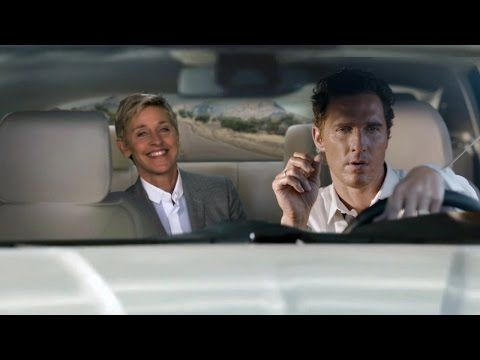 Watch Ellen hilariously spoof Matthew McConaughey's serious car commercial | Rare