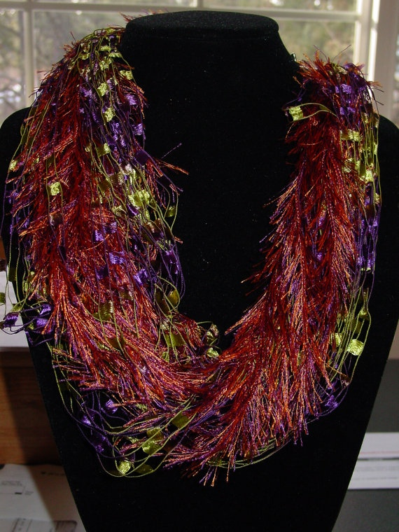 Neck Scarfs Eyelash Trellis Yarn Necklace 10 50 Usd